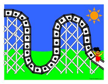 ABC Rollercoaster Token Board