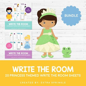 Disney Inspired Princess Write The Room Sheets Bundle