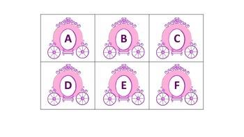 Princess alphabet flash cards