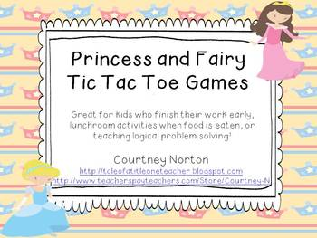 Princess and Fairy Tic Tac Toe Games (5 different games)