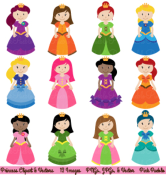 Princess and Fairytale Clipart and Vectors