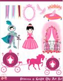 Princess and Knight Clip Art Set