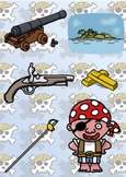 Princess and Pirate clip art bundle collection