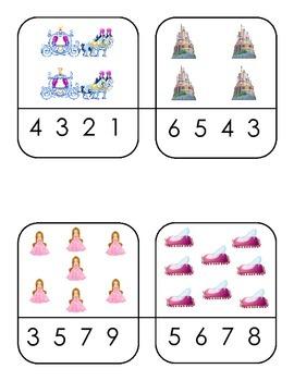 Princess and Star Wars Number Clothing Pins