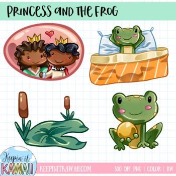 Princess and the Frog Fairy Tale Clip Art Set