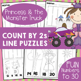 Count by 2's - Fun Number Line Activity Worksheets