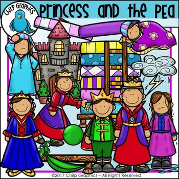 Princess and the Pea Clip Art Set - Chirp Graphics