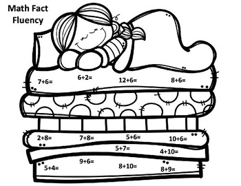 Princess and the Pea Math Fact Addition Fluency CRAFT