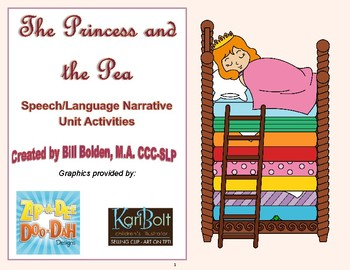 Princess and the Pea Narrative Unit Activities - Speech and Language