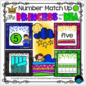 Princess and the Pea Number Match Up
