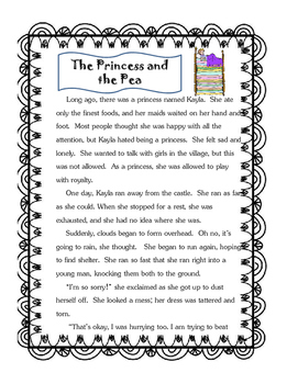 Princess and the Pea Reading Comprehension