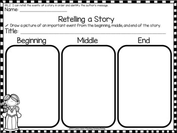 Princess and the Pea Themed Comprehension Activities for First Grade