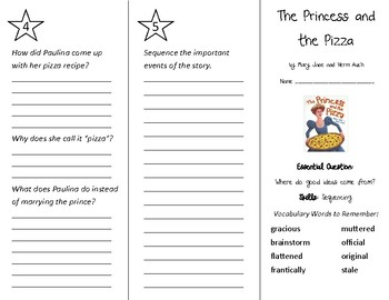 Princess and the Pizza Trifold - Wonders 4th Gr U 1 - Independent Reading (2020)