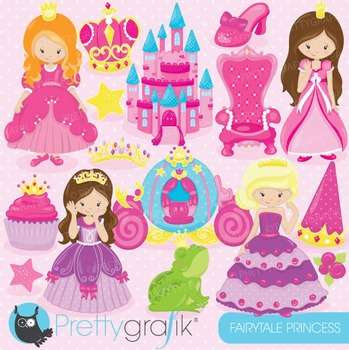 Princess clipart commercial use, vector graphics, digital - CL748
