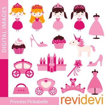 Princess clipart - pink