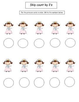 Princess skip counting by 2's