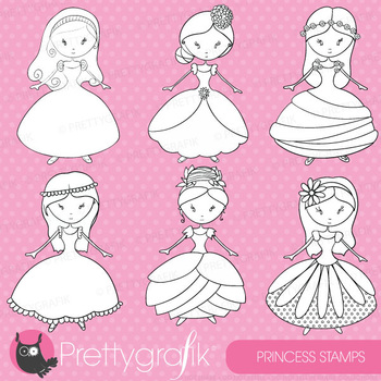 Princess stamps commercial use, vector graphics, images - DS356