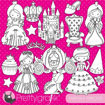 Princess stamps commercial use, vector graphics, images - DS748
