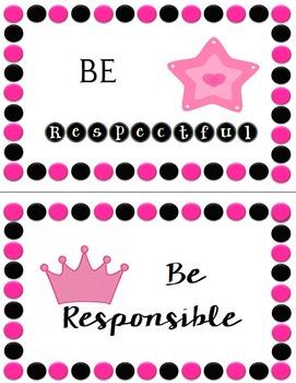 Princess with Polka Dots Classroom Theme - Editable