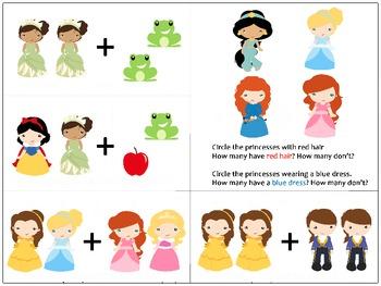 Princesses Addition Helper 2+2