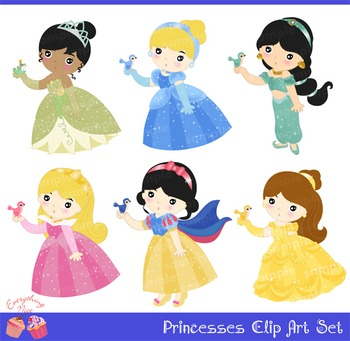 Princesses Clipart Set