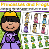 Princesses and Frogs Alphabet Matching Upper and Lower Case Preschool Center