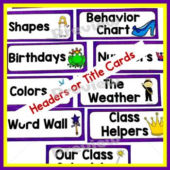 Classroom Decor   Fairy Tale   Editable Items