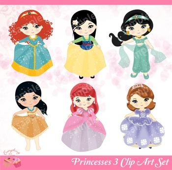 Princesses 3 Clip Art Set