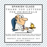 Principal Appreciation Letter for Spanish Class