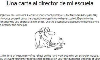 Principal Appreciation Letter for Spanish Class
