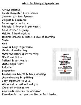 Principal Appreciation Poem