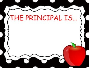 Principal In Out Sign