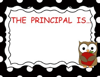 Principal In Out Sign with Owl