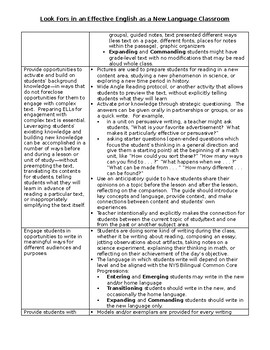 Principal Look-Fors in an Effective ESL-ELD-ENL Classroom