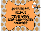 Principal Parts of Verbs Cut-and-Paste Sorting Activity