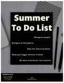 2019 Summer To Do list - Principals