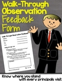 Principal Observation Walkthrough Feedback Page