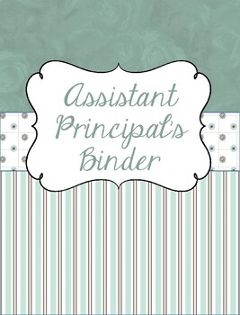 Principal and/or Assistant Principal Binder