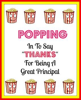 Principal popcorn tag