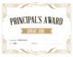 Principal's Award - reward certificate {Editable}