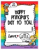 Principal's Day Gift  - Book from Class - Simple Writing P