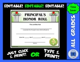 Principal's Honor Roll Certificate (Pillars) - Editable