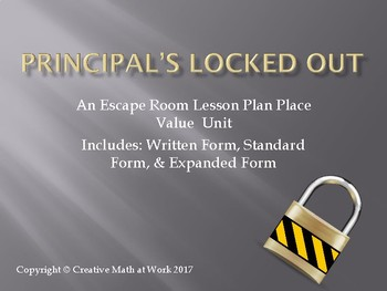 Principal's Locked Out: Place Value