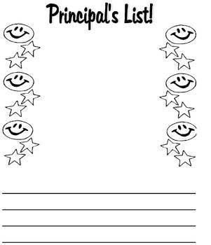 Principal's List Portfolio Page