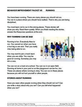 Principal's Resource: 2nd Grade Behavior Improvement: Running
