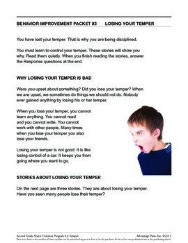 Principal's Resource: 2nd Grade Behavior Improvement: Temper