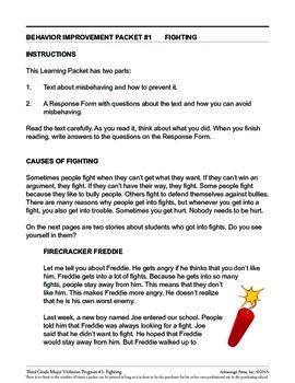 Principal's Resource: 3rd Grade Behavior Improvement: Fighting