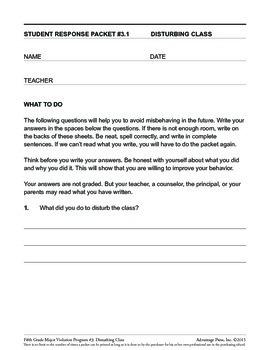 Principal's Resource: 5th Grade Behavior Improvement: Disturb Class