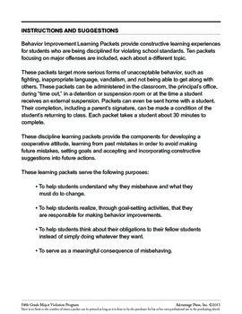 Principal's Resource: 5th Grade Behavior Improvement: Respect