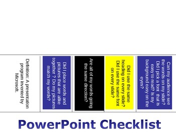 Principals of Power Point fold-able